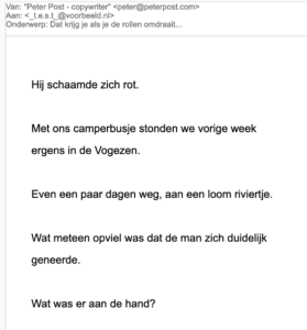 e-mail layout voorbeeld